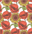 Sunflower Poppy vector image vector image
