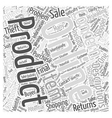 The Dangers Of Online Shopping Word Cloud Concept vector image vector image