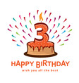 third birthday vector image