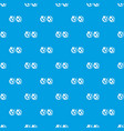 tick and cross in circles pattern seamless blue vector image vector image