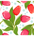 tulip seamless2 vector image