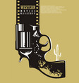 western movies cinema poster design vector image