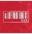 xXx barcode vector image