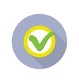 Strategic Management Web Button with Check Sign vector image