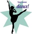 Wanna Dance vector image