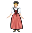 Young woman in Swiss national costume vector image