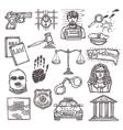 Law icon sketch vector image