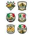cinco de mayo mexican holiday retro sketch icons