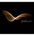 Abstract digital art background with gold line vector image vector image
