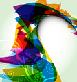 abstract wave style design vector image vector image