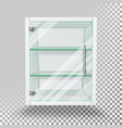 advertising glass cabinet empty stand vector image vector image