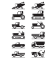 Agricultural machinery icon set vector image vector image