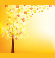 an autumn design autumn tree background vector image