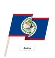 Belize Ribbon Waving Flag Isolated on White vector image