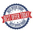 best offer today grunge rubber stamp vector image vector image