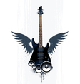 Black guitar with speakers vector image vector image