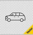 black line hatchback car icon isolated on vector image vector image