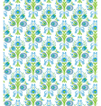 blue flowers seamless vector image vector image