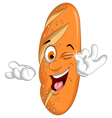 bread cartoon posing vector image vector image