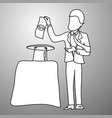 businessman use a magic trick to making money vector image vector image