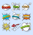 cartoon speech bubbles explode bang sound with vector image vector image