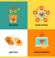 charity and donation social help services vector image