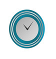 clock icon in silver and blue style timer vector image vector image