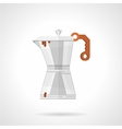Coffee maker flat color icon vector image