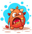 cute funny crazy cartoon character monster vector image vector image