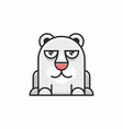 cute polar bear icon on white background vector image vector image
