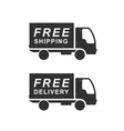 Delivery and shipping truck vector image