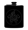 Drinking stainless steel flask Black vector image