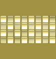 elegant wallpaper with amazing golden tiles vector image vector image
