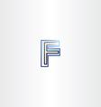 f letter logo symbol blue black icon vector image vector image