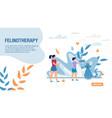 felinotherapy healthcare methods landing page vector image vector image