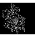 floral black card vector image vector image