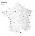 france map in blockchain technology network style vector image vector image