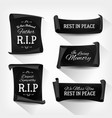 funeral rest in peace banners vector image vector image