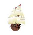 galleon isolated on white background vector image vector image