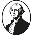 george washington first president united vector image vector image