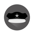 grayscale hat police icon image vector image vector image