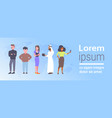 group mix race business people communication vector image