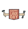 Happy labor day card template vector image vector image