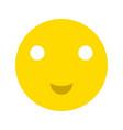 happy smiley face emoticon icon vector image vector image