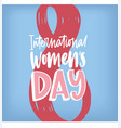 international women s day greeting card with vector image