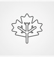 maple leaf icon sign symbol vector image vector image