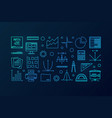 math blue line banner or vector image vector image