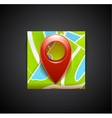 Mobile app icon - navigation map and tag symbol vector image