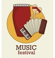 musical festival with instruments isolated icon vector image