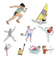 olympic sports winter and summer sports a set of vector image